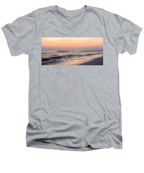 Postcard Men's V-Neck T-Shirt by Angela Rath
