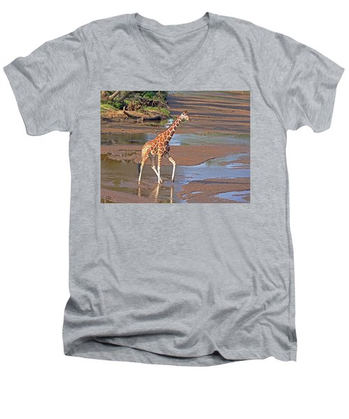 Reticulated Giraffe Men's V-Neck T-Shirt