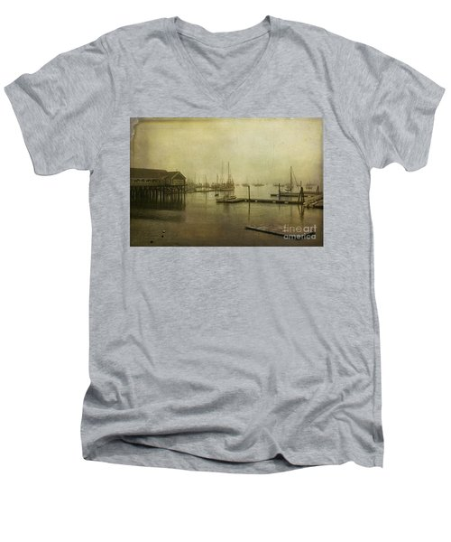 Rockland Harbor Men's V-Neck T-Shirt