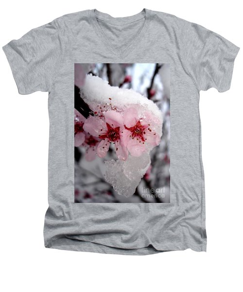 Spring Blossom Icicle Men's V-Neck T-Shirt
