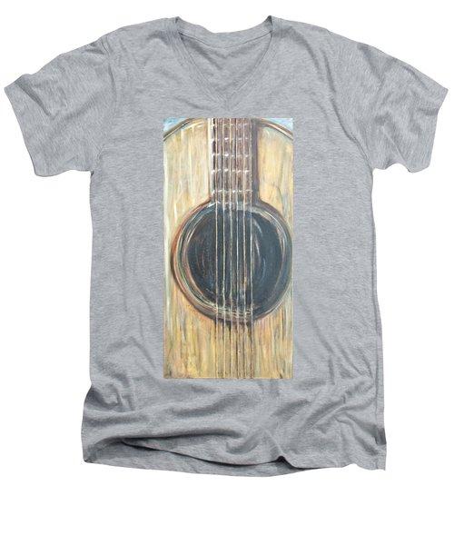 Strings Acoustic Sound Men's V-Neck T-Shirt