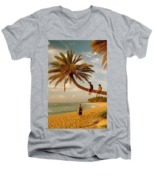 Sunset Beach Oahu Men's V-Neck T-Shirt