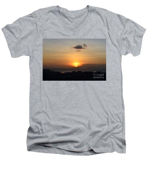 Sunset Upon The Ocean  Men's V-Neck T-Shirt