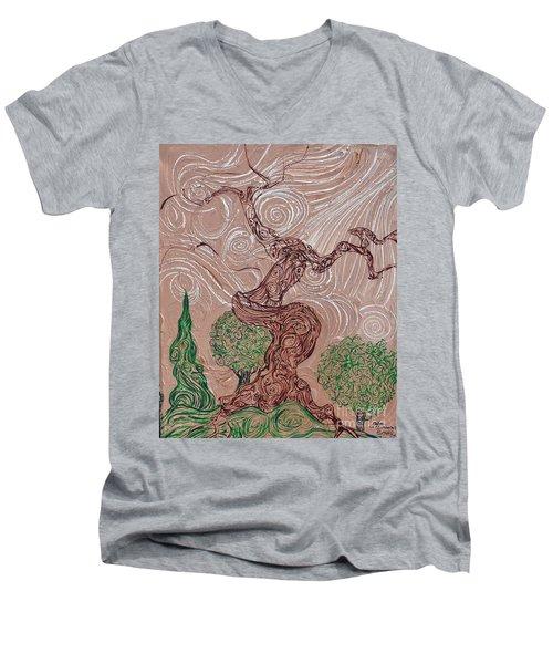 The Earthen Tree Men's V-Neck T-Shirt