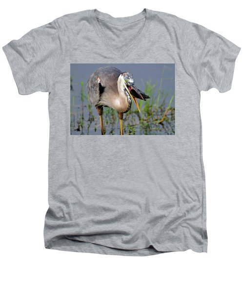 Toss And Catch Men's V-Neck T-Shirt