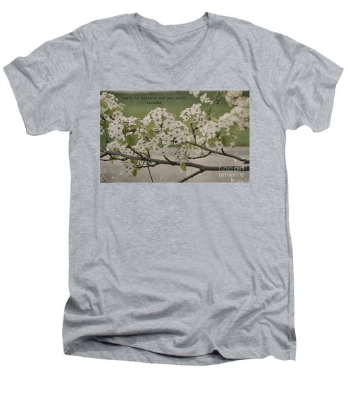 Vintage Spring Men's V-Neck T-Shirt