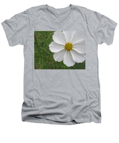 Men's V-Neck T-Shirt featuring the photograph White Beauty by Tina M Wenger