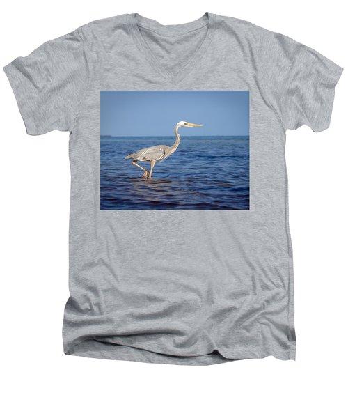 Wurdemann's Heron Men's V-Neck T-Shirt