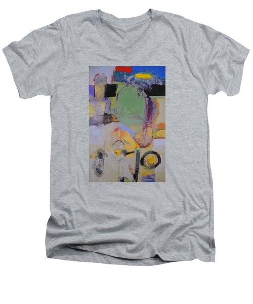 10th Street Bass Hole Men's V-Neck T-Shirt by Cliff Spohn