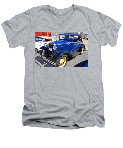 Men's V-Neck T-Shirt featuring the photograph 1931 Ford by Paul Mashburn