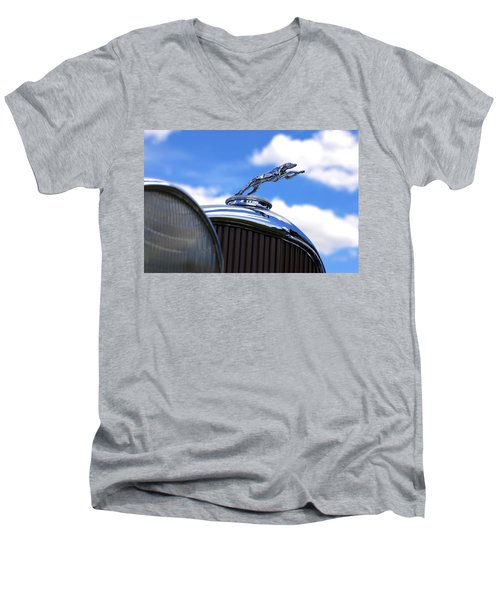 Men's V-Neck T-Shirt featuring the photograph 1932 Lincoln Kb Brunn Phaeton by Gordon Dean II