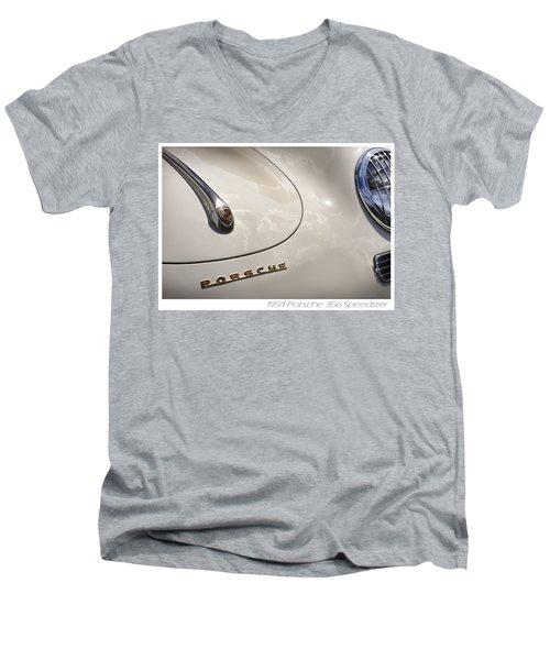 Men's V-Neck T-Shirt featuring the photograph 1954 Porsche 356 Speedster by Gordon Dean II