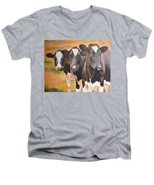 Curious Trio Men's V-Neck T-Shirt