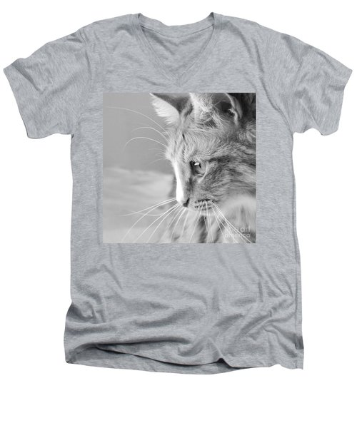 Flitwick The Cat Men's V-Neck T-Shirt by Jeannette Hunt