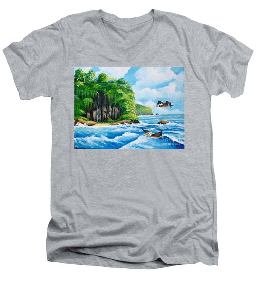 Treasure Island Men's V-Neck T-Shirt