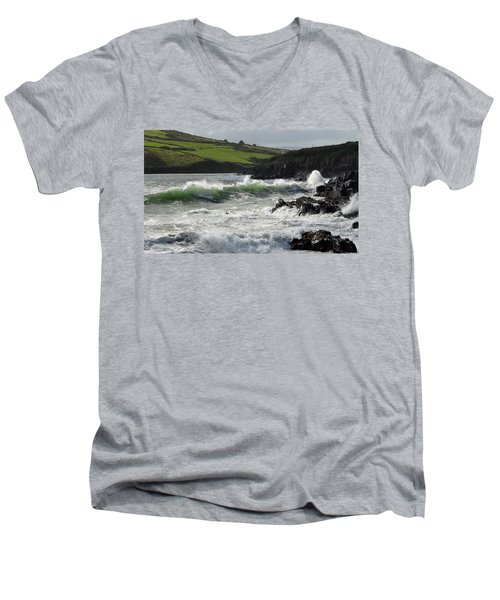 Beenbane Beach Men's V-Neck T-Shirt by Barbara Walsh