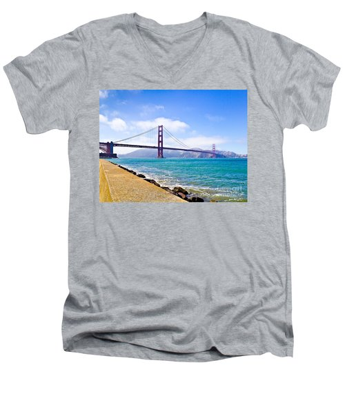 75 Years - Golden Gate - San Francisco Men's V-Neck T-Shirt