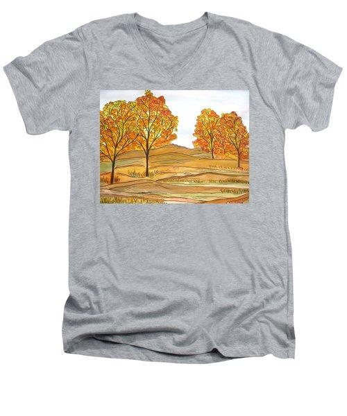 A Bit Of Fall Men's V-Neck T-Shirt