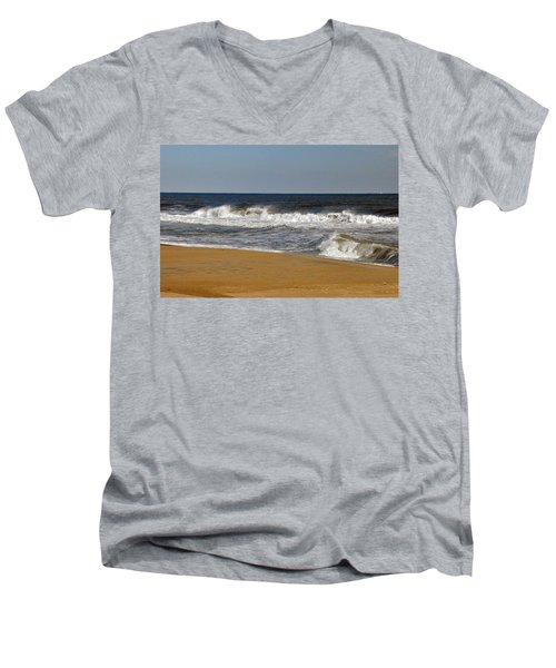 Men's V-Neck T-Shirt featuring the photograph A Brisk Day by Sarah McKoy