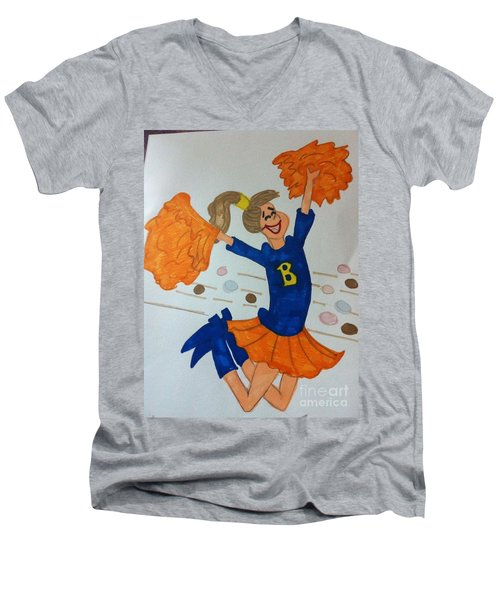 A Cheerful Cheerleader Men's V-Neck T-Shirt