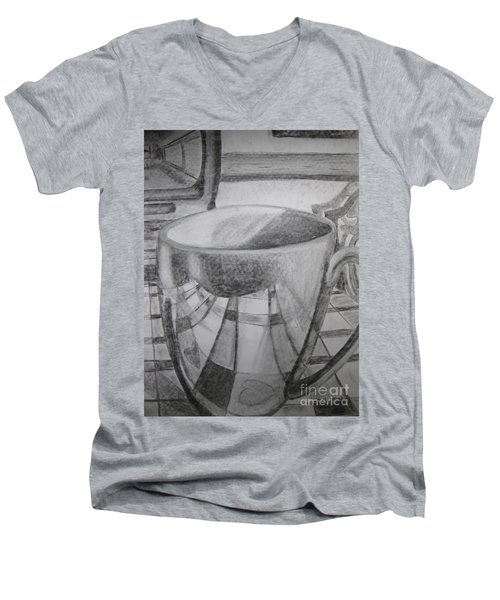 A Cup Of Reflections Men's V-Neck T-Shirt