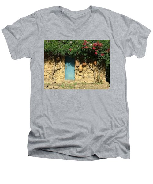 A Day In Colombia Men's V-Neck T-Shirt