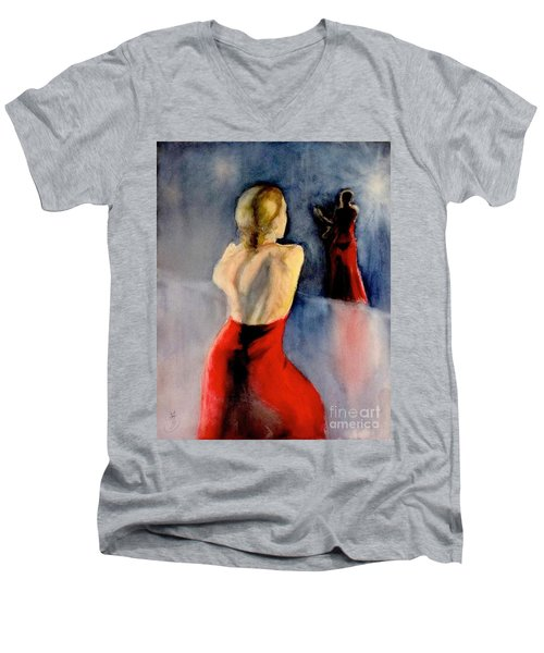 A Flamenco Dancer  3 Men's V-Neck T-Shirt