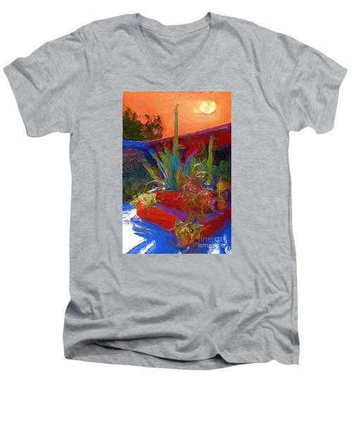 Men's V-Neck T-Shirt featuring the photograph A Garden In Pozos by John  Kolenberg