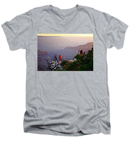 A Grand Meeting Place Men's V-Neck T-Shirt
