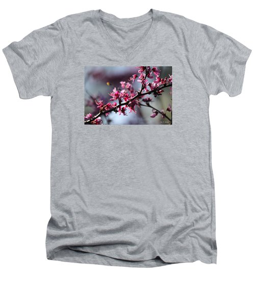 Men's V-Neck T-Shirt featuring the photograph A Hint Of Spring  by Amy Gallagher