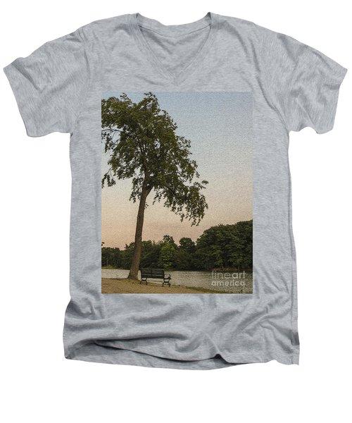 A Lonely Park Bench Men's V-Neck T-Shirt