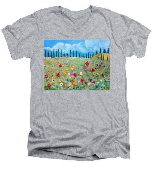 A Peaceful Place Men's V-Neck T-Shirt by John Keaton