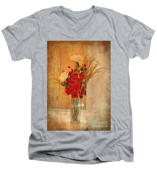 Men's V-Neck T-Shirt featuring the photograph A Rose By Any Other Name by Kathy Baccari