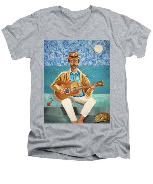 A Sad Song Men's V-Neck T-Shirt by John Keaton