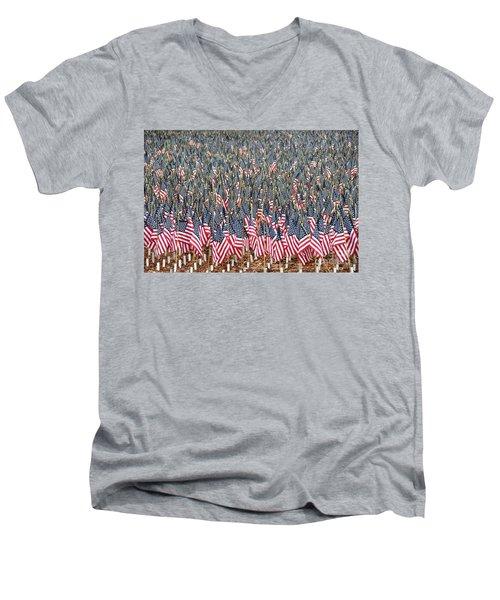 A Thousand Flags Men's V-Neck T-Shirt by John Black