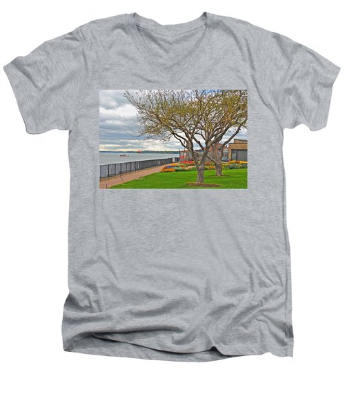 Men's V-Neck T-Shirt featuring the photograph A View From The Garden by Michael Frank Jr