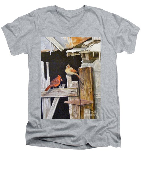 A Visit To Daddy's Barn  Sold Men's V-Neck T-Shirt