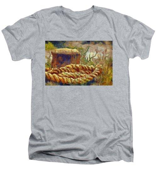 Abandoned Bollard Men's V-Neck T-Shirt