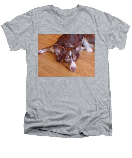 Abbey Feeling Down Men's V-Neck T-Shirt