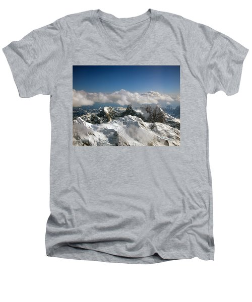 Above Mckinley Men's V-Neck T-Shirt by Kay Lovingood