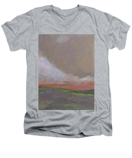 Abstract Landscape - Scarlet Light Men's V-Neck T-Shirt