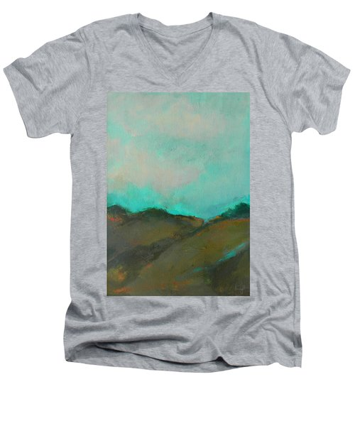 Abstract Landscape - Turquoise Sky Men's V-Neck T-Shirt