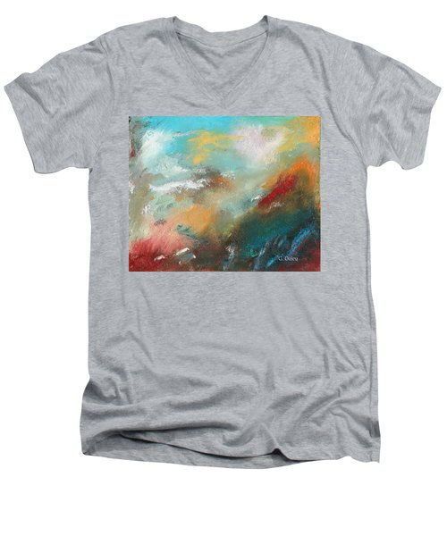 Abstract No 1 Men's V-Neck T-Shirt