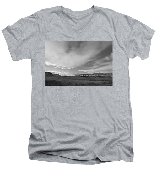 Men's V-Neck T-Shirt featuring the photograph Across The Valley by Kathleen Grace