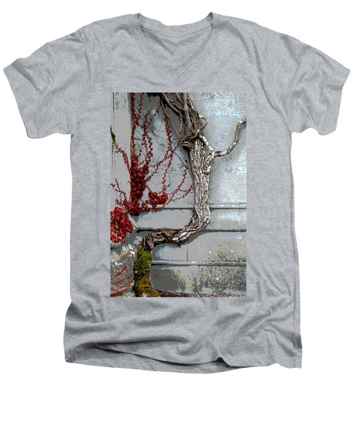 Men's V-Neck T-Shirt featuring the photograph Adare Ivy by Charlie and Norma Brock