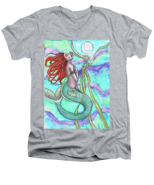 Adira The Mermaid Men's V-Neck T-Shirt
