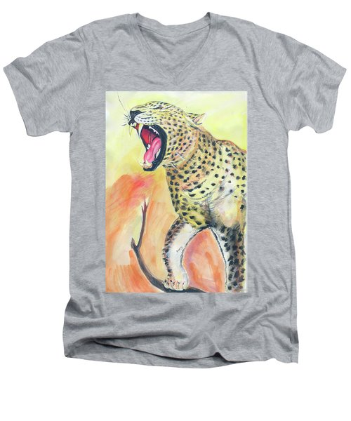 African Leopard Men's V-Neck T-Shirt