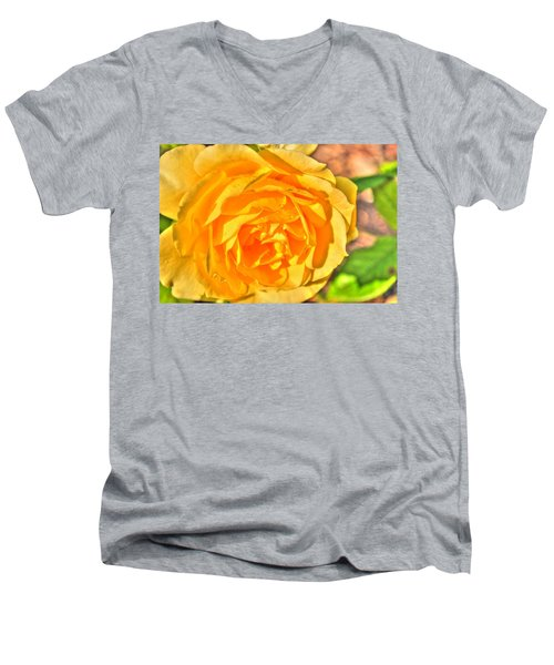 Men's V-Neck T-Shirt featuring the photograph After The Rain by Michael Frank Jr