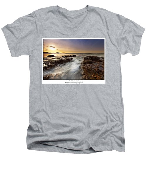Men's V-Neck T-Shirt featuring the photograph Afternoon Tide by Beverly Cash