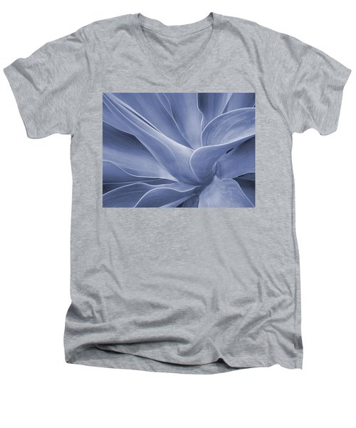 Agave In Blue Men's V-Neck T-Shirt